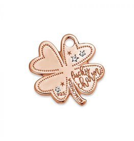 Mi Moneda Monogram MMM Lucky Clover Tag 20mm Rosé