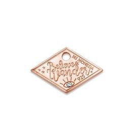 Mi Moneda Monogram MMM Wander Diamond Tag 20mm Rosé
