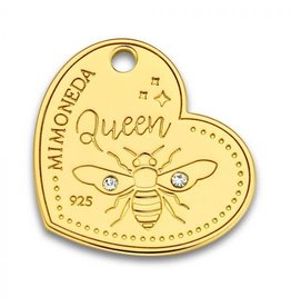 Mi Moneda Monogram MMM Queen Bee Tag 20mm Goudkleurig