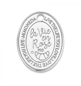 Mi Moneda MMM Rose Oval Tag 20mm 925 Zilver