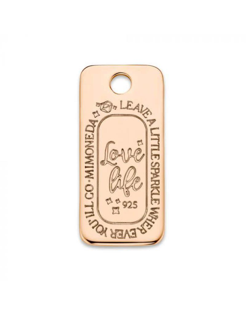 Mi Moneda Monogram MMM Love Life Square Tag Rosé