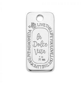 Mi Moneda Monogram MMM Dolce Vita Deluxe Square Tag 925 Zilver
