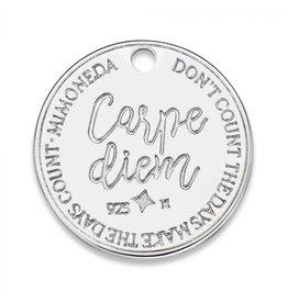 Mi Moneda Monogram MMM Carpe Diem Deluxe Tag 20mm 925 Zilver