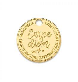 Mi Moneda Monogram MMM Carpe Diem Deluxe Tag 15mm Goudkleurig