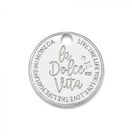Mi Moneda Monogram MMM Dolce Vita Deluxe Tag 15mm 925 Zilver