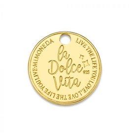 Mi Moneda Monogram MMM Dolce Vita Deluxe Tag 15mm Goudkleurig