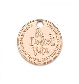 Mi Moneda Monogram MMM Dolce Vita Deluxe Tag 15mm Rosé