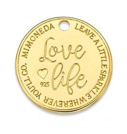 Mi Moneda Monogram MMM Love Life Deluxe Tag 20mm Goudkleurig