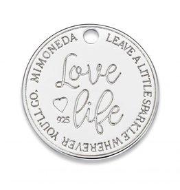 Mi Moneda Monogram MMM Love Life Deluxe Tag 20mm 925 Zilver