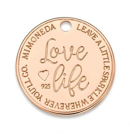 Mi Moneda Monogram MMM Love Life Deluxe Tag 20mm Rosé