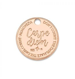 Mi Moneda Monogram MMM Carpe Diem Deluxe Tag 15mm Rosé