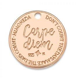 Mi Moneda Monogram MMM Carpe Diem Deluxe Tag 20mm Rosé