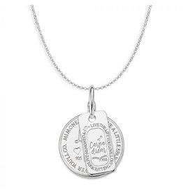 Mi Moneda Monogram MMM Love Life & Carpe Diem Set 20mm 925 Zilver