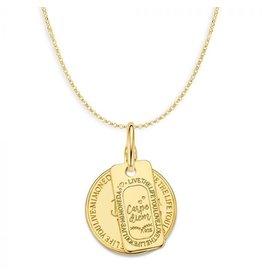 Mi Moneda Monogram MMM Love Life & Carpe Diem Set 20mm Goudkleurig