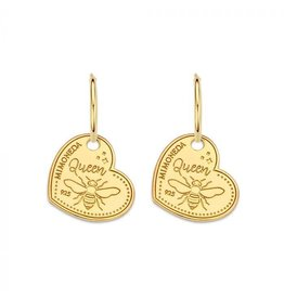 Mi Moneda Monogram MMM Earring Queen Bee Set 15mm Goudkleurig