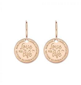 Mi Moneda Monogram MMM Earring Love Life Set 15mm Rosé