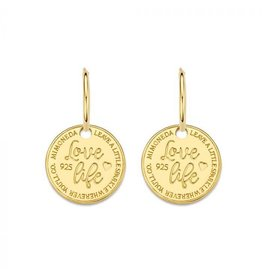 Mi Moneda Monogram MMM Earring Love Life Set 15mm Goudkleurig