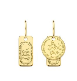 Mi Moneda Monogram MMM Carpe Dolce Earring Set Goudkleurig