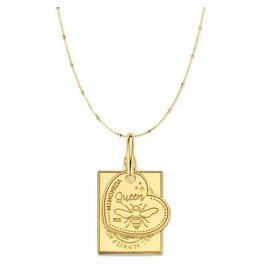 Mi Moneda Monogram MMM Avo Queen Necklace Set Goudkleurig