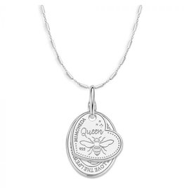Mi Moneda Monogram MMM Queen Rose Necklace Set