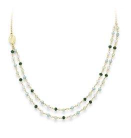 Amen Amen Necklace Crystals Green CLGVE