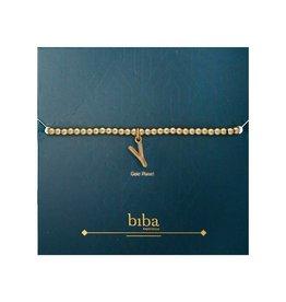 Biba Biba Alfabet Armband Y Goudkleurig