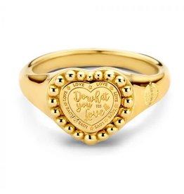 Mi Moneda Vintage MMv Queens Ring Goudkleurig