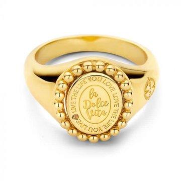 Mi Moneda MMV Soho Ring Goudkleurig 58