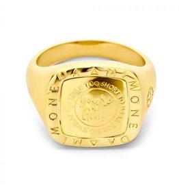 Mi Moneda MMV Lenox Ring Goudkleurig