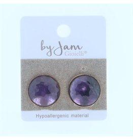 By Jam Gioielli By Jam Gioielli Oorsteker Round Purple