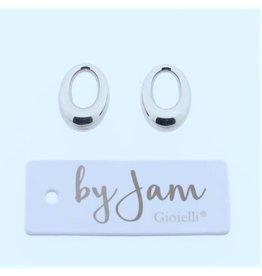 By Jam Gioielli By Jam Gioielli Oorbel-Part Smal Oval Zilverkleurig