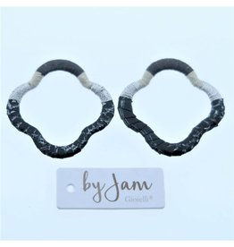 By Jam Gioielli By Jam Gioielli Oorbel-Part Clover Black & Grey