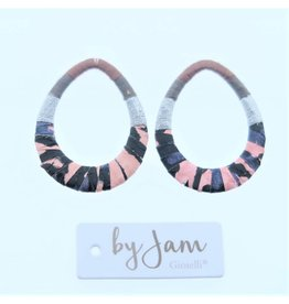 By Jam Gioielli By Jam Gioielli Oorbel-Part Drop Pastel Pink & Black