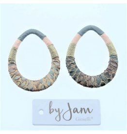 By Jam Gioielli By Jam Gioielli Oorbel-Part Drop Pastel Pink & GreenGrey