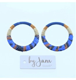 By Jam Gioielli By Jam Gioielli Oorbel-Part Round Blue