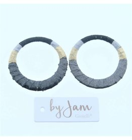 By Jam Gioielli By Jam Gioielli Oorbel-Part Round Black