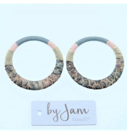 By Jam Gioielli By Jam Gioielli Oorbel-Part Round Pastel Pink