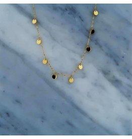 Zag Bijoux Zag Bijoux Necklace 9 Discs Goudkleurig
