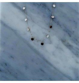 Zag Bijoux Zag Bijoux Necklace 9 Discs Zilverkleurig