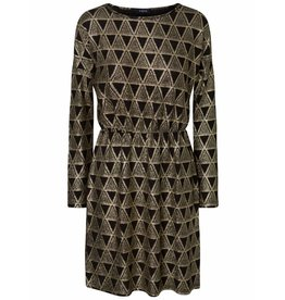 Pieces PC Lara LS Dress Black/Gold