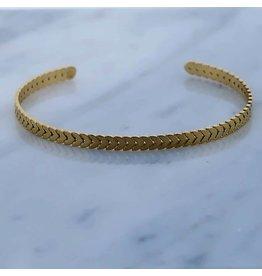Zag Bijoux Zag Bijoux Spang Bracelet Goudkleurig