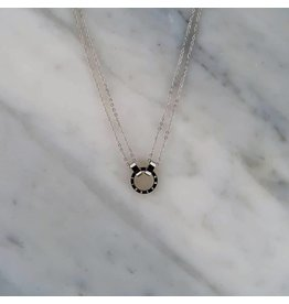 Zag Bijoux Zag Bijoux Double Necklace Circle Zilverkleurig