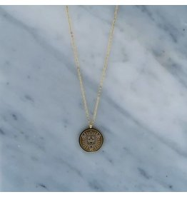 Zag Bijoux Zag Bijoux Necklace Coin Goudkleurig