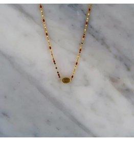Zag Bijoux Zag Bijoux Necklace Taupe Stone Goudkleurig