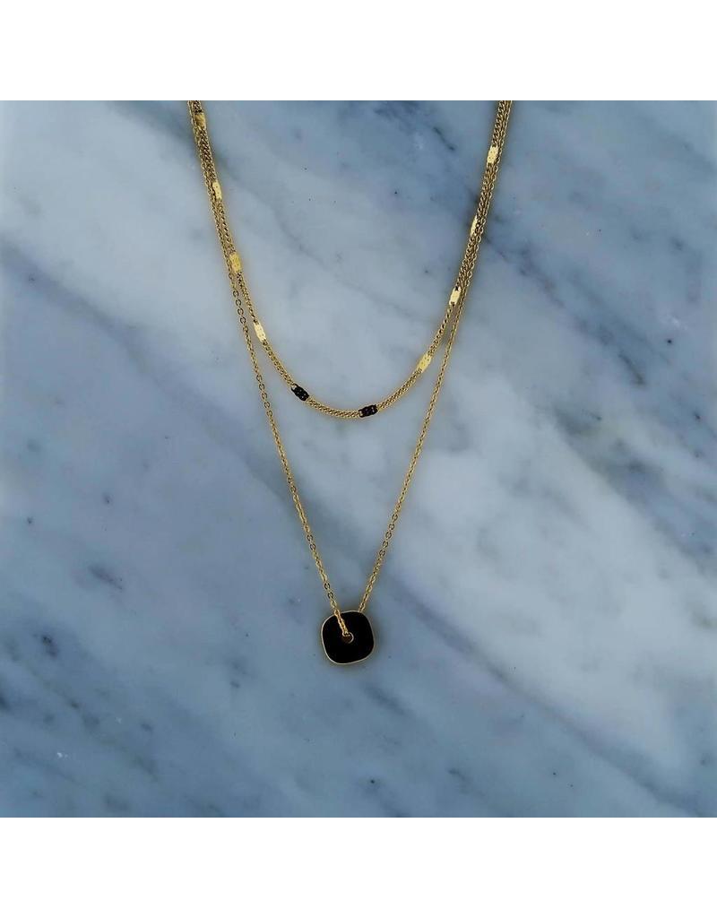 Zag Bijoux Double Necklace Square Goudkleurig Goodies Shop Vof