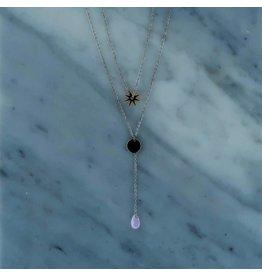 Zag Bijoux Zag Bijoux Double Necklace Star Zilverkleurig