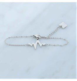 Zag Bijoux Zag bijoux Bracelet Heartbeat Zilverkleurig