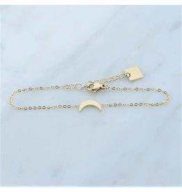 Zag Bijoux Zag bijoux Bracelet Moon Goudkleurig