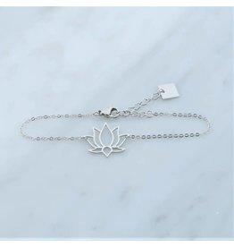 Zag Bijoux Zag bijoux Bracelet Lotus Zilverkleurig