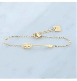 Zag Bijoux Zag bijoux Bracelet Arrow Goudkleurig